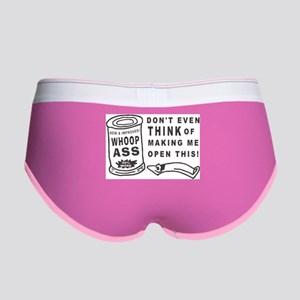 WHOOP ASS CAN - DONT EVEN THINK. Women's Boy Brief