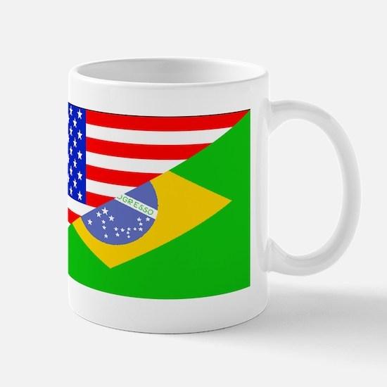 Brazilian American Flag Mugs