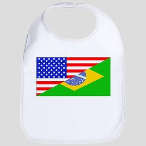 Brazilian American Flag Bib