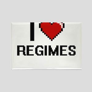I Love Regimes Digital Design Magnets