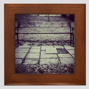 Mysterious bank Framed Tile