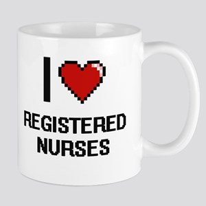 I Love Registered Nurses Digital Design Mugs