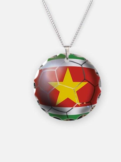 Suriname Soccer Ball Necklace