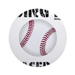 Baseball Doing It Round Ornament