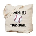 Baseball Doing It Tote Bag