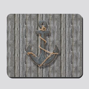 nautical anchor barn wood Mousepad