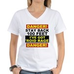 'Roid Rage Women's V-Neck T-Shirt