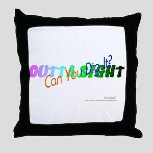"Multicolor ""70's"" Throw Pillow"