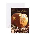 Playing-Card Pumpkin - Halloween Card