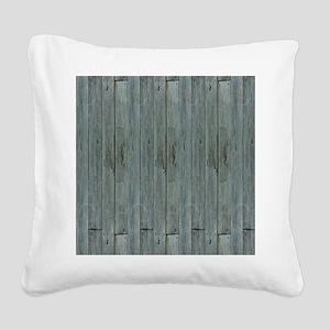 nautical teal beach drift woo Square Canvas Pillow