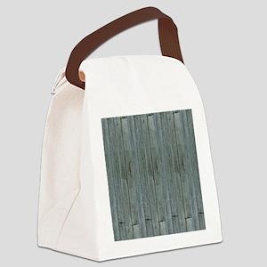 nautical teal beach drift wood  Canvas Lunch Bag