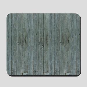 nautical teal beach drift wood  Mousepad