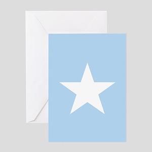 Square Somalian or Somali Flag Greeting Cards