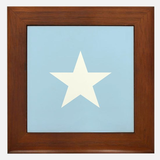 Square Somalian or Somali Flag Framed Tile