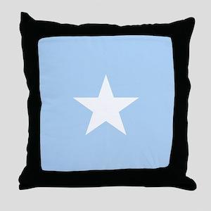 Square Somalian or Somali Flag Throw Pillow