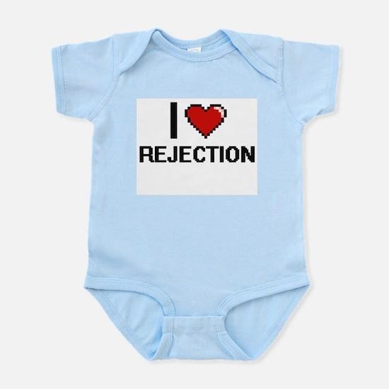 I Love Rejection Digital Design Body Suit