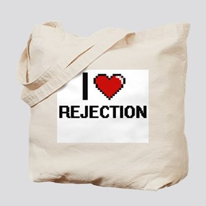 I Love Rejection Digital Design Tote Bag
