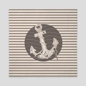 shabby chic anchor nautical stripes Queen Duvet