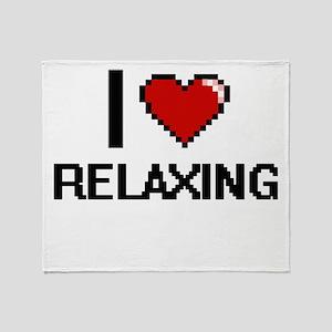I Love Relaxing Digital Design Throw Blanket