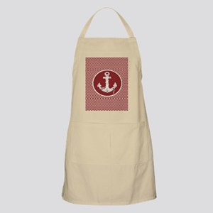 red chevron nautical anchor Apron