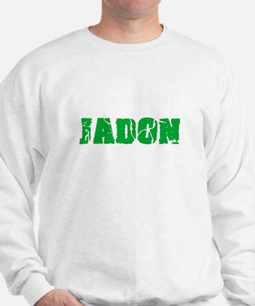 Jadon Name Weathered Green Design Sweatshirt