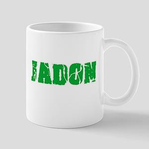 Jadon Name Weathered Green Design Mugs