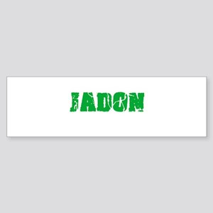 Jadon Name Weathered Green Design Bumper Sticker