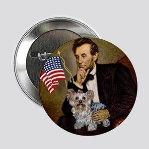 Lincoln & Yorkie Button
