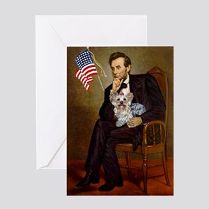 Lincoln & Yorkie Greeting Card