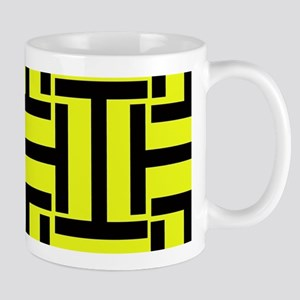 Bold Yellow and Black T Weave Mugs