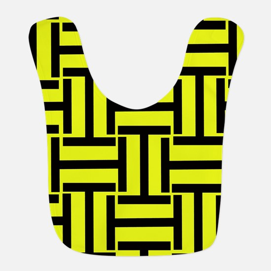 Bold Yellow and Black T Weave Bib
