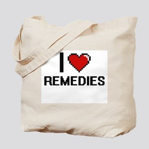 I Love Remedies Digital Design Tote Bag
