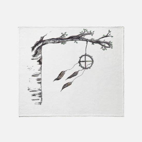 Birch Breeze Throw Blanket