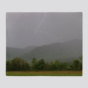 Lightning at Cades Cove Throw Blanket