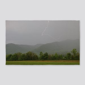Lightning at Cades Cove Area Rug