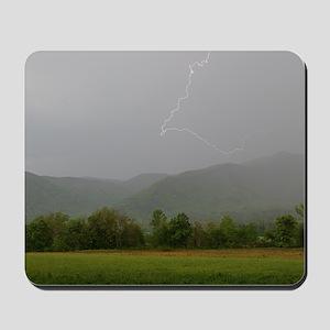 Lightning at Cades Cove Mousepad
