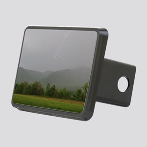Lightning at Cades Cove Rectangular Hitch Cover
