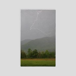 Lightning at Cades  Area Rug
