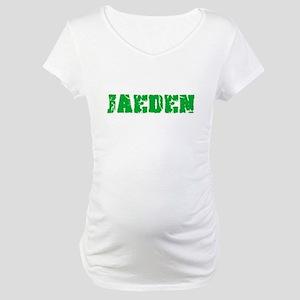 Jaeden Name Weathered Green Desi Maternity T-Shirt
