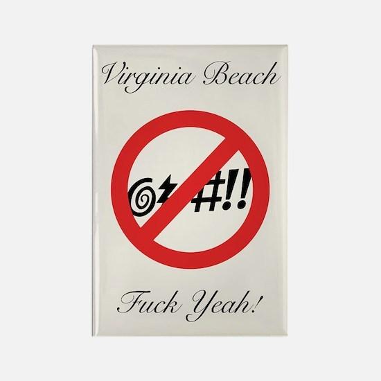 Virginia @#!! Rectangle Magnet