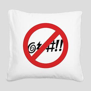 Virginia @#!! Square Canvas Pillow