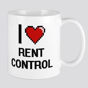 I Love Rent Control Digital Design Mugs