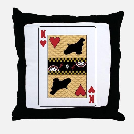King Cocker Throw Pillow