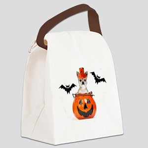Halloween Chihuahua dog Canvas Lunch Bag