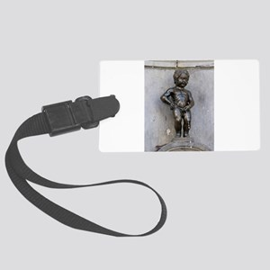 Manneken Pis Belgium Large Luggage Tag