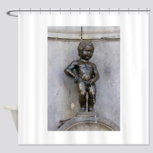 Manneken Pis Belgium Shower Curtain