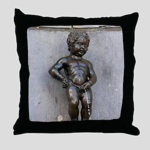 Manneken Pis Belgium Throw Pillow