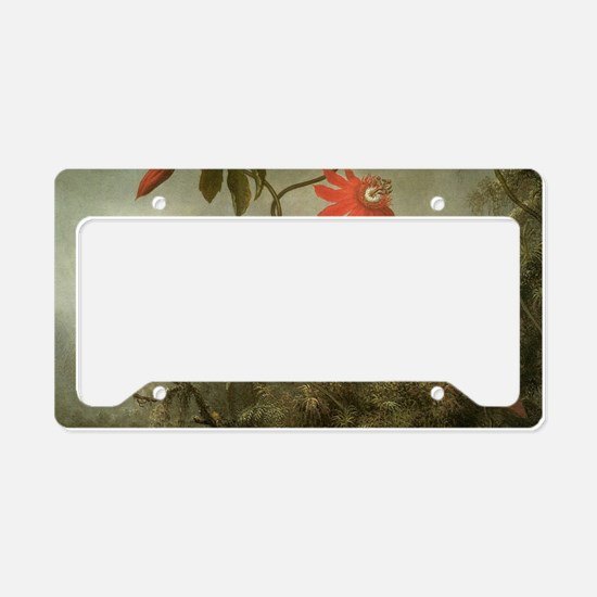 Passion Flowers and Hummingbi License Plate Holder