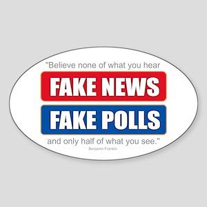 Fake News - Franklin Quote Sticker