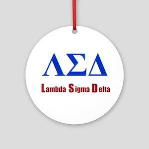 Lambda Sigma Delta Round Ornament